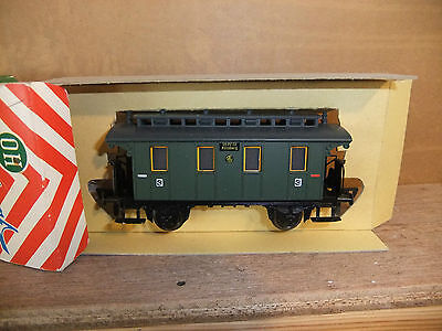 Fleischmann 1400 'old time' 4 wheeled 3rd Class carriage, boxed