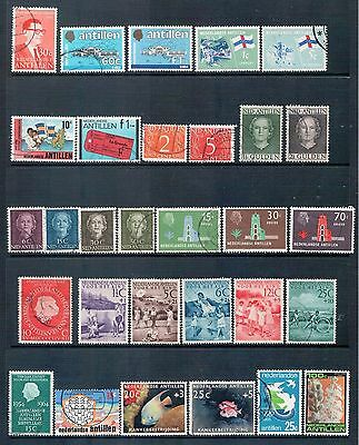 DUTCH ANTILLES - Mixed Lot of 30 Stamps  Fine to Good Used