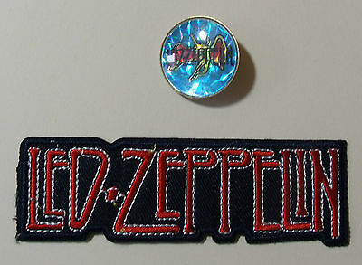 LED ZEPPLIN Metal Pin Badge & Iron-on Patch Lot Rare Vintage Music Memorabilia