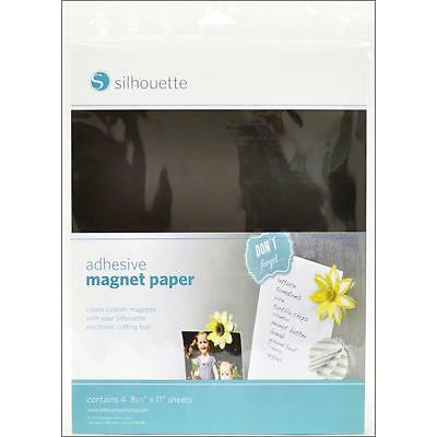 Silhouette® Adhesive Magnet Paper Sheets 4pkg