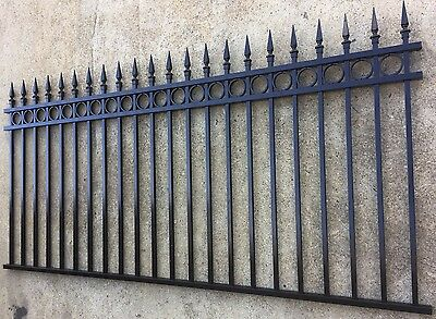 Aluminium Spear and Ring Top Fence Panel/Garden /Front Fencing  1200 x2400