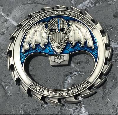 Federal Air Marshal/DHS/TSA/Police Thin Blue Line Bottle Opener Challenge Coin