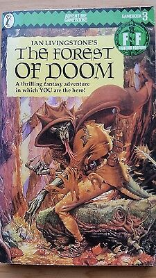 Ian Livingstone Fighting Fantasy Game Book 3 The Forest of Doom