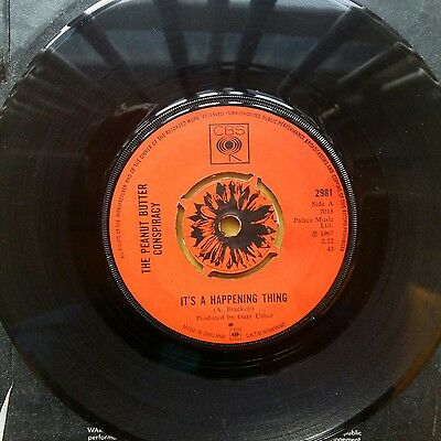 """The Peanut Butter Conspiracy Its A Happening Thing 7"""" Single Vinyl Rare 1967 Cbs"""