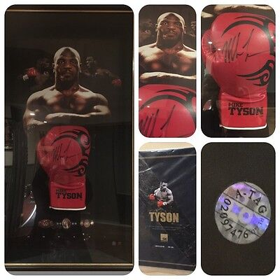 Framed Authentic Mike Tyson Signed Glove