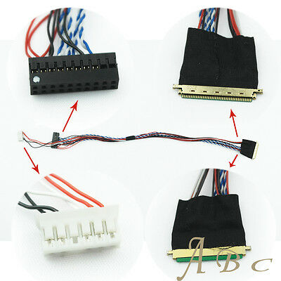 LVDS CABLE IPEX 40PIN 0.5mm pitch 1ch 6bit for 10.1inch~15.6inch lcd panel