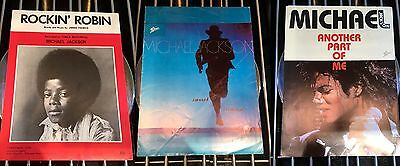 michael jackson X3 Music Sheets Rockin Robin Smooth Criminal Another Part Of Me