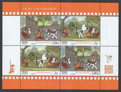 Poland 2016 Polish Cartoons (Reksio The Dog) Souvenir Sheet Of 4 Stamps In Mint