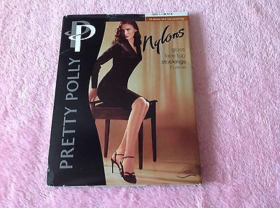 pretty polly nylons gloss lace top stockings