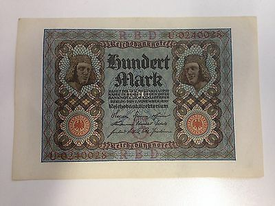 100 mark German bank note