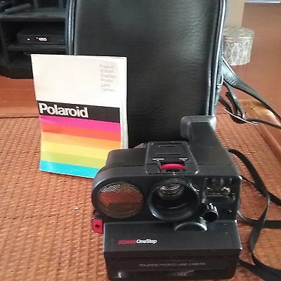 Polaroid Pronto Instant Land Camera Sonar One step with Manual & carrying case