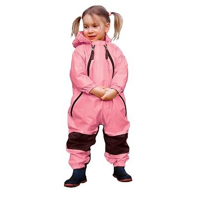 NEW Girls Tuffo Muddy Buddy Rain Suit Toddlers Coveralls, Pink, 12 Months