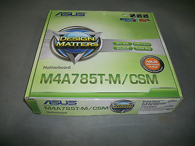 ASUS M4A785T-M/CSM, Socket AM3, AMD Motherboard Brand New in Retail Box