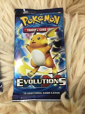 Pokemon Trading Card Evolutions Pack Of 10 Cards Auth