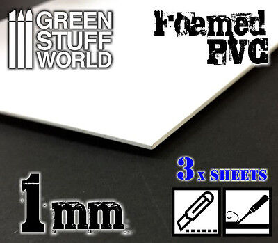 Foamed PVC 1mm - Modeling Dioramas Structures - Miniatures Tiles Forex Foamboard