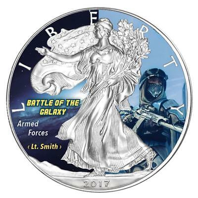 USA Dollar 2017 Silver Eagle Armed Forces Battle of the Galaxy 7 Silber 1 Oz.