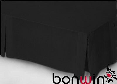 100% Egyptian Cotton Collection 1000TC Valance Bed Skirt in Black for King Size