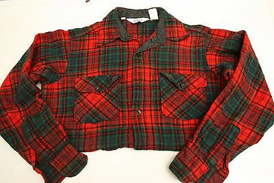 Vintage 1960's Woolrich Hunting Board Shirt Red Lumberjack Check Mens Large W3