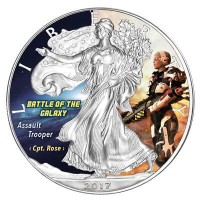 USA Dollar 2017 Silver Eagle Assault Trooper Battle of the Galaxy 5 1 Oz Silber