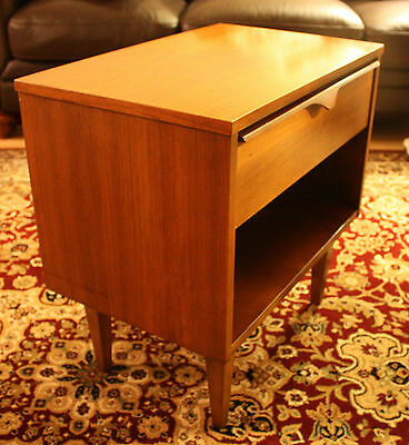 Mid-century Teak Nightstand End Table by Vic-Art (Victoriaville)