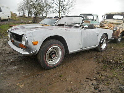 1971 Triumph TR6 Rolling Car Donor Shell   US Import LHD