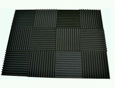 6 pack Acoustic Foam Tiles   1 x 12 x 12 (charcoal) ** FREE SHIPPING