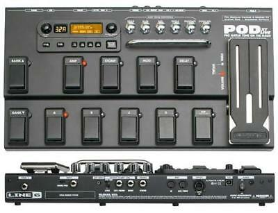 Line 6 Pod Xt Live Guitar Multi Effects Pedal Processor & Power Supply