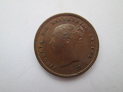 Unc 1844 Queen Victoria Half-Farthing With Traces Of Lustre.