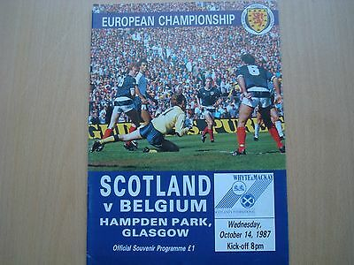 Scotland V Belgium Oct 1987