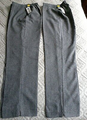 Ladies  grey bowls trousers Size 16 2 pairs BNWT
