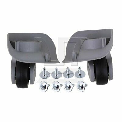 9.1x10.7x4.9cm Grey Plastic Left&Right Luggage Wheels DIY Replacement Set of 2
