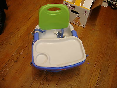 Fisher Price Healthy Care Deluxe Booster Seat Green and Blue