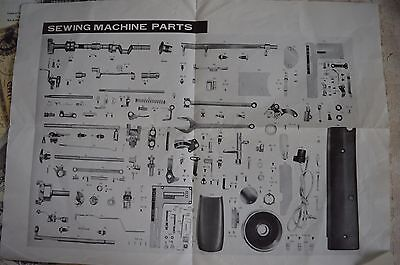 A Vintage Sewing Machine Parts Guide - Perhaps Relating To A Singer?