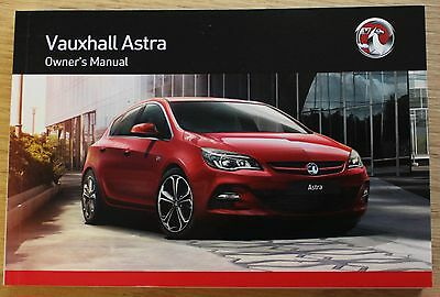 Genuine Vauxhall Astra J Owners Manual Handbook 2012-2016 Book