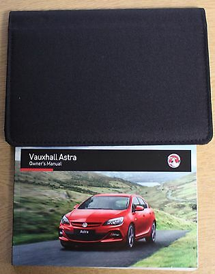 Genuine Vauxhall Astra J Owners Manual Handbook 2012-2016 Pack 12996