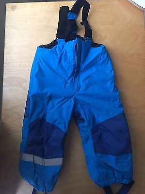 H & M Toddler Boys Girls Blue Insulated Ski Snow Pants Size 1.5-2y EUC