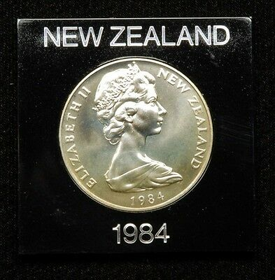 "New Zealand ""Black Robin"" 1 Dollar 1984 Coin in Plastic Case"
