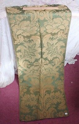 French Antique Lyon Silk Sample Textile Fabric Panel c1870-1890~Frame Layout