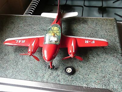 """""""JOUSTRA""""...TIN AIRPLANE .made in FRANCE ..1950/60s ?. From Dads Loft !....Nice."""
