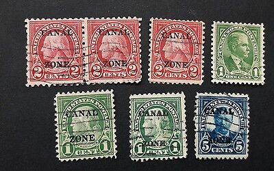 Canal Zone 1922 US used stamps