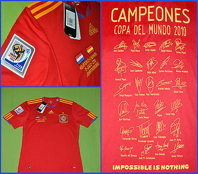 "Camiseta España ""edición Limitada"" Nueva, Adidas Shirt Spain World Cup 2010 New!"