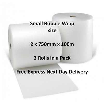 Strong Premium Branded Small Bubble Wrap Size: 2 Rolls of 750mm x 100m