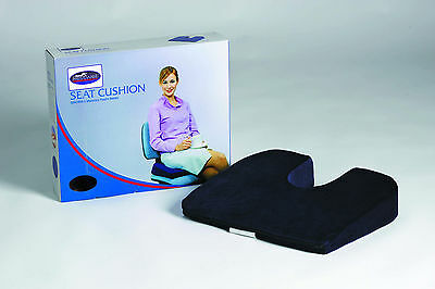 Orthopedic Seat Wedge Cushion Support Memory Foam Coccyx Back Car Chair Booster