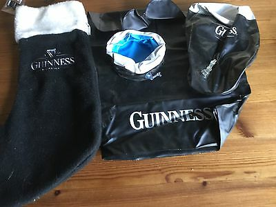Guinness blow up hand, pint and pool and Xmas stocking