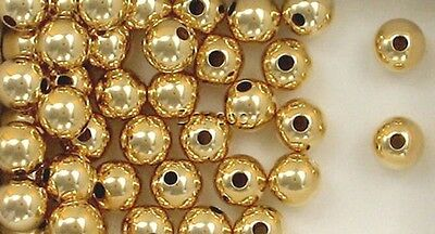 14K Gold Filled 8mm Seamless Round Spacer Beads, Choice of Quantity & Price