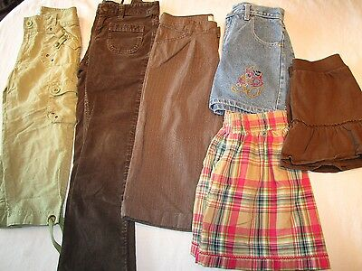 Lot of girls clothes, size 10, 10-12.  Skirts, shorts, capris, pants.