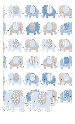Blue Elephant | Grey Elephant | Stars 2 Sheets of Giftwrap | Paper | 2 Gift Tags