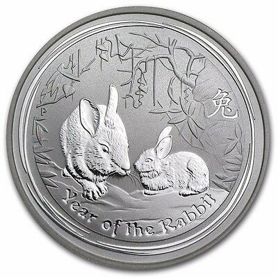 Roll of 20 Australia Lunar Rabbit 2011 1/2 oz .999 Silver Coin - 1 Roll 20 pcs