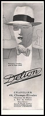 1929 - DELION Hat  Fashion men ad Vintage Advertising