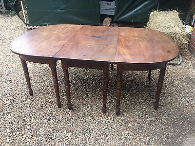 Lovely old antique mahogany three-piece dining table